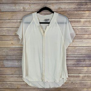 ASOS US 10 Ivory Lightweight Top Blouse Boxy